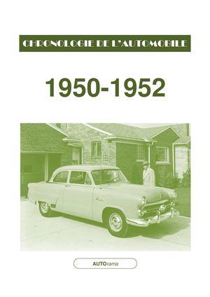 calam o chronologie de l 39 automobile 1950 1952. Black Bedroom Furniture Sets. Home Design Ideas