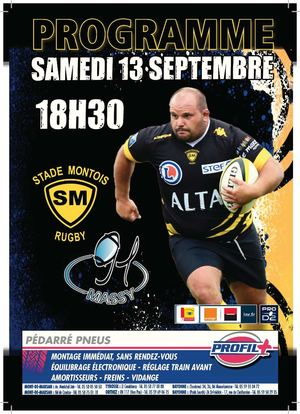 PROGRAMME DE MATCH SMR vs MASSY 13 09 2014