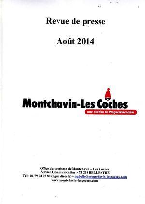 Calam o revue de presse montchavin les coches ao t 2014 - Office tourisme montchavin ...