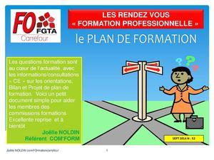 FO Carrefour  :  Le Plan de Formation