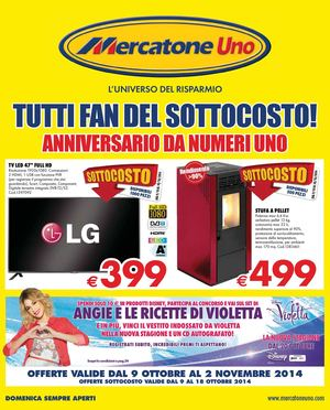 Tecnologia elettronica mercatone uno trento volantino for Euronics stufe a gas