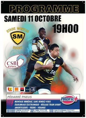PROGRAMME DE MATCH SMR vs BOURGOIN 11 10 2014
