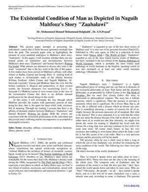 the happy man by naguib mahfouz essay Zaabalawi is a story english literature essay the first story called zaabalawi by the egyptian naguib mahfouz zaabalawi is a story about a sick man who.