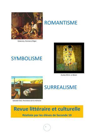 Calam o romantisme symbolisme et surr alisme revue for Auteur romantique