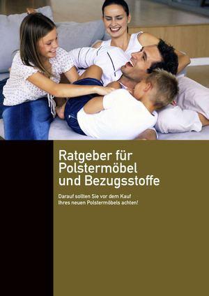 Calaméo - E-Book: Polstermöbel reinigen. Tipps & Tricks.