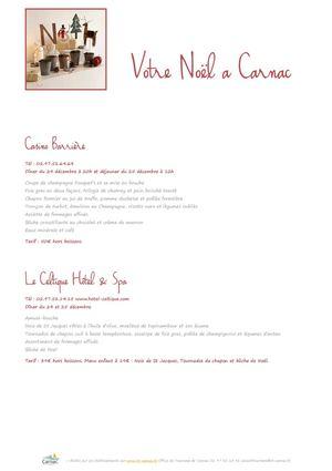 Calam o votre r veillon de no l et de st sylvestre office de tourisme carnac 2014 - Carnac office de tourisme ...