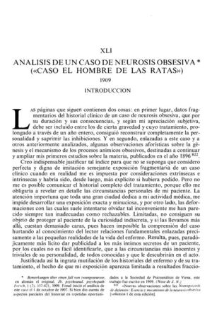 6_ANÁLISIS DE UN CASO DE NEUROSIS OBSESIVA Ensayo 41 Hombre De Las Ratas 1909 Clear Scan