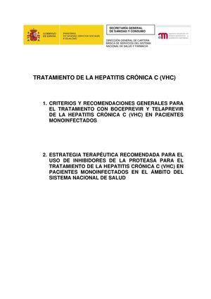Tratamiento Hepatitis Cronica C