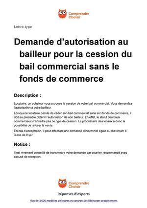 contrat de cession de bail pdf
