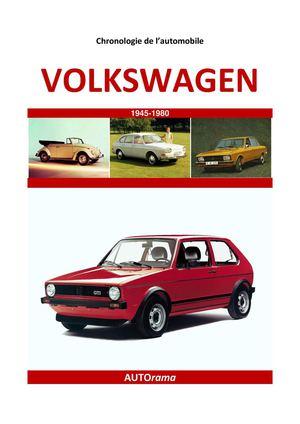 calam o chronologie de l 39 automobile volkswagen. Black Bedroom Furniture Sets. Home Design Ideas