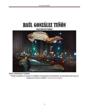 Selección Poemas De Raul Gonzalez Tuñon