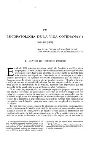 13_SIGMUND FREUD  Psicopatologia Cotidiana