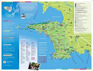 Calam 233 O Carte Touristique Et De Randonn 233 Es De L Ouest