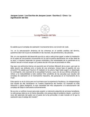 37_jLa Significacion Del Falo_LACAN