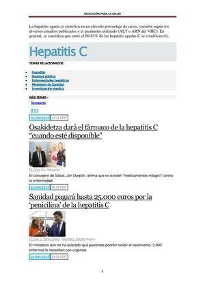Los Medios De Comunicación Informan O Desinforman Sobre La Hepatits C