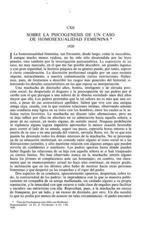 22_SIGMUND FREUD_ Psicogenesis De Un Caso De Homosexualidad Femenina Clear Scan