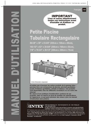 Calam o notice de montage piscine tubulaire intex metal for Montage piscine intex