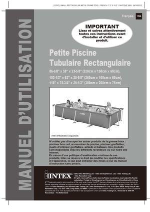 Calam o notice de montage piscine tubulaire intex metal - Montage piscine intex rectangulaire ...