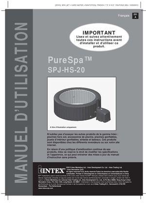 calam o notice de montage du spa intex purespa jets. Black Bedroom Furniture Sets. Home Design Ideas