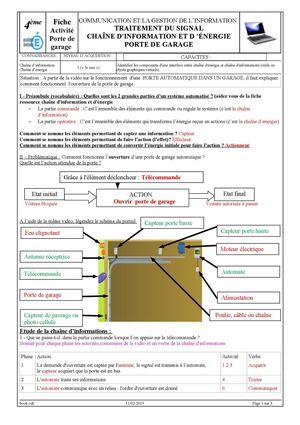Calam o tp commande 1 porte de garage correction for Commande porte de garage