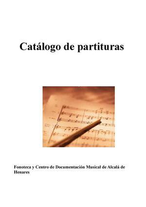 Calam o cat logo de partituras for Lidl alcala de henares catalogo