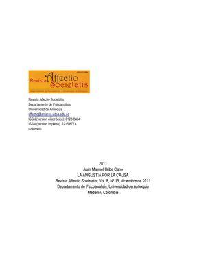 Dialnet La Angustia Por La Causa 3811317