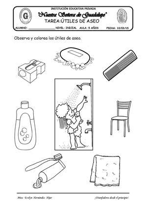 Calam o utiles de aseo tarea for Imagenes de utiles de aseo