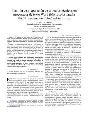 calam o plantilla articulo cientifico On articulos cientificos de gastronomia pdf