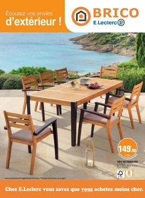 table jardin leclerc catalogue. Black Bedroom Furniture Sets. Home Design Ideas