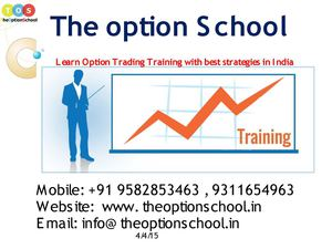 Option trading course in mumbai