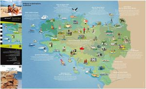 Brittany 10 destinations to discover 2015, tourist map