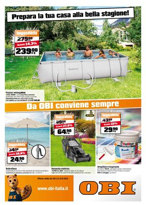 Calam o volantino obi dal 28 maggio al 14 giugno for Barbecue in muratura obi