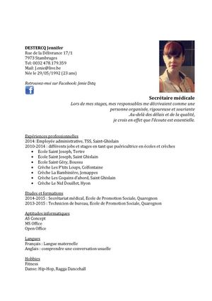 exemple cv employee administrative   cv anonyme