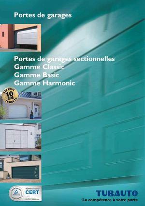 Calam o catalogue tubauto portes de garages sectionnelles - Portes de garage sectionnelles motorisees ...