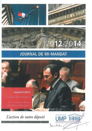 Lionnel Luca 2015 Journal Mi Mandat Ump