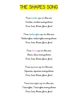 Sing along Shapes Song - with lyrics (featuring Debbie Doo ...