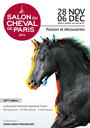 Calam o plaquette commerciale du salon du cheval de for Adresse salon du cheval paris