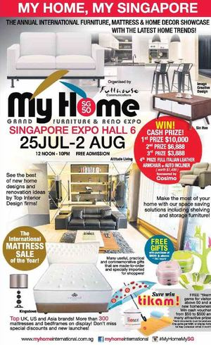 Calam O My Home Grand Furniture Reno Expo At Singapore Expo Hall 6 From July 25 To August 2