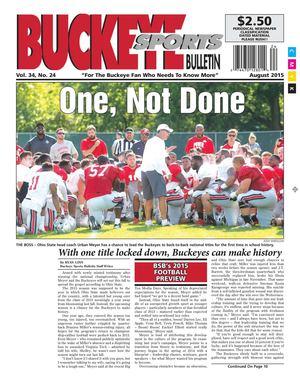 Buckeye Sports Bulletin September, 2015