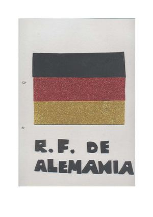 Alemania. Libro hecho por Manuel García