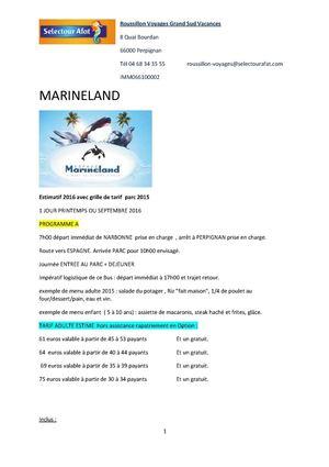 Calam o devis bps 2016 walibi marineland port aventura du 05 09 2015 tarifs a ce jour sous - Port aventura tarif 1 jour ...