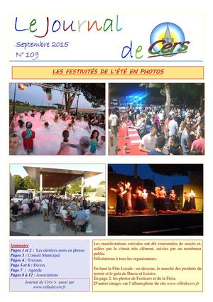 JOURNAL DE CERS - SEPTEMBE 2015