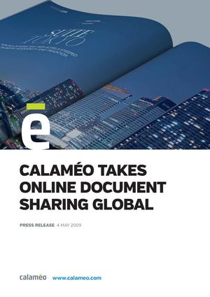 Calaméo takes online document sharing global, adds YouTube video embedding as first in market - Press Release - Calaméo