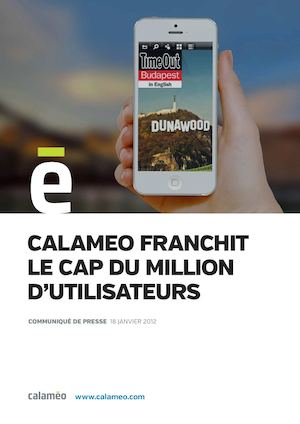 Calaméo franchit le cap du million d'utilisateurs
