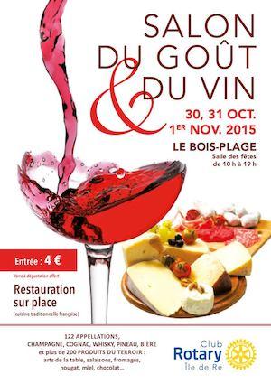 Calam o salon du gout et du vin 2015 rotary ile de r - Salon des vins et produits du terroir ...