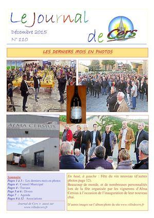 JOURNAL DE CERS - DECEMBRE 2015