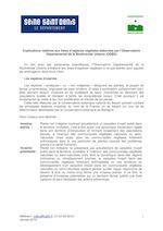 Référent : odbu@cg93.fr, 01 43 93 69 61 Janvier 2010 1 Explications relatives aux listes d'espèces végétales élaborées par l'Observatoire Départemental de la Biodiversité Urbaine (ODBU) En lien avec ses partenaires scientifiques, l'Observatoire Départemental de la Biodiversité Urbaine a élaboré des listes d'espèces végétales à ne pas planter pour aiguiller les aménageurs dans leurs choix. Les espèces invasives Les espèces « exotiques » ou « non indigènes » désignent les plantes, la plupart du temps ornementales, originaires de pays lointains. Si elles s'acclimatent suffisamment bien, elles peuvent devenir invasives en se multipliant de façon incontrôlée au détriment des populations locales et menacer à terme les écosystèmes locaux. C'est pourquoi il est fondamental de veiller à leur non-prolifération et d'éviter de les planter. Cette liste, élaborée par le Conservatoire botanique national du Bassin parisien contient les principales espèces invasives du nord de la France, en se basant s