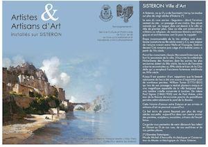 Dépliant artistes et artisans d'art de Sisteron