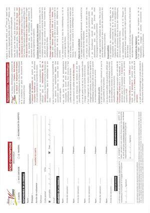 Scan Règlement 2016 + Formulaire