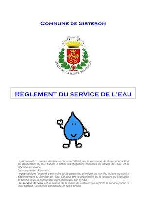 Règlement du service